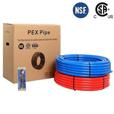 """2 rolls of  3/4"""" Pex  Pipe/Tubing 2X300ft Length(Red and Blue)"""