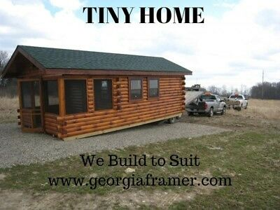 Tiny Home 12x24 7/16 Sheathing on Ext & Bare Studs on Int. 15k COMPLETE HOME 32K