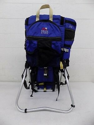 Kelty K.I.D.S. Elite Kid Carrier/Baby Backpack Blue NO RAIN/SUN SHADE EXCELLENT