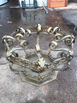 Antique Fancy Heavy Solid Brass Table Base