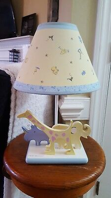 Carters John Lennon Real Love Baby Nursery Lamp Excellent Condition Zoo Animals