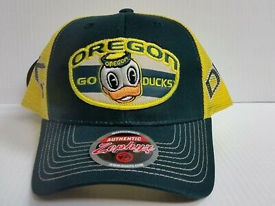 timeless design cf471 259c4 Oregon Ducks Cap Zephyr Adjustable Mesh Snapback Home State Hat NCAA