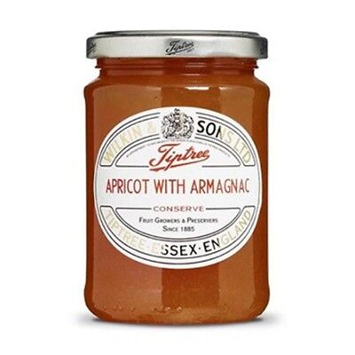 Tiptree Apricot with Armagnac Conserve (2 Jars x340g) Quality English Jam