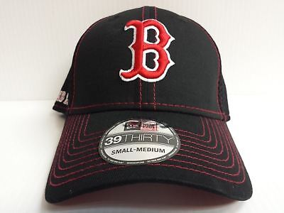finest selection 3a34a 6a059 Boston Red Sox Cap New Era 39Thirty Stretch Fit Crux Line Neo Mesh Hat