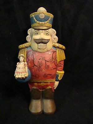 "RARE!! G Debrekht Nutcracker & Clara Ceramic 11"" Figurine Limited Edition"