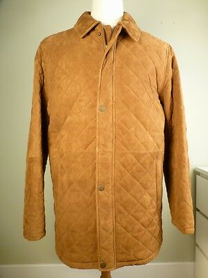 NWT! Brooks Brothers Leather Quilted Coat L Brown Large Jacket