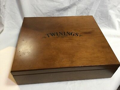 Twinings Tea Box Wooden Holds 120 Bags