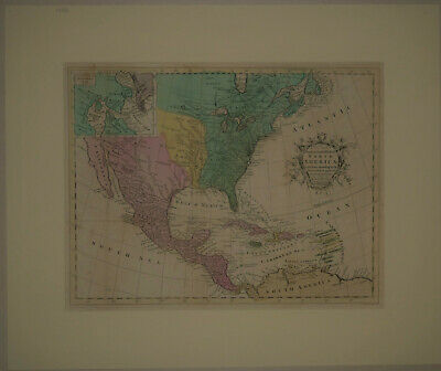 1781 Genuine Antique hand colored map North America. by J Hinton
