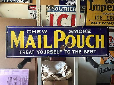 Vintage Mail Pouch Treat Yourself To The Best Porcelain Sign