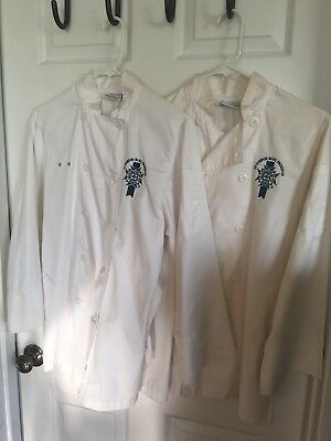 le cordon bleu chef jacket xs cotton poly used $18 for two.