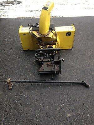 John Deere 425 445 455 Snowblower with Quick Hitch and Driveshaft