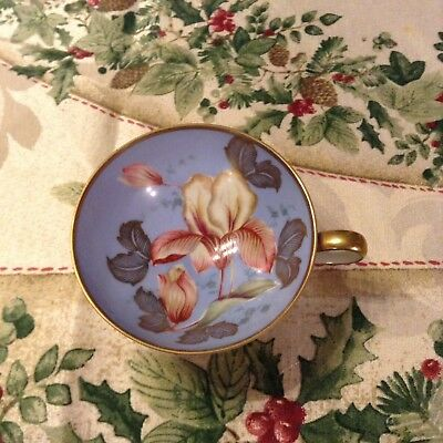 R & W Bavaria Vintage Hand Painted Tea Cup, With Gold Trim