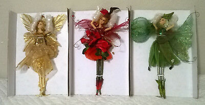 Lot Of 3  Collectible Fairy Dolls With Wings 12 Inch Fantasy Mystical Fairies