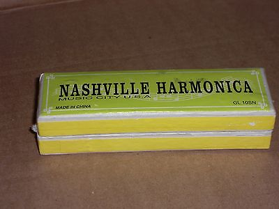 Nashville Harmonica Music City U.S.A. HARMONICA With Box* In Excellent Condition