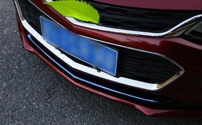 1PC Blue Steel Front Bumper Trim Cover Stripe For Chevrolet Cruze 2017-2018