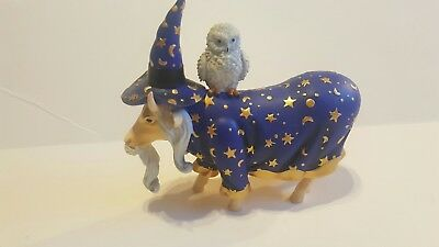 """Cow Parade Figurine """" Moolin the Wizard """" ( #7286 - Retired )"""