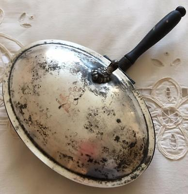 Vintage FB Rogers Silver Co Silver on Copper Ash Tray Crumb Collector Bed Warmer