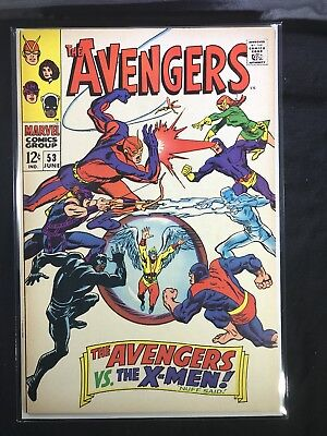 Avengers 53 High grade see pics Early X-men Crossover 1963 marvel silver age