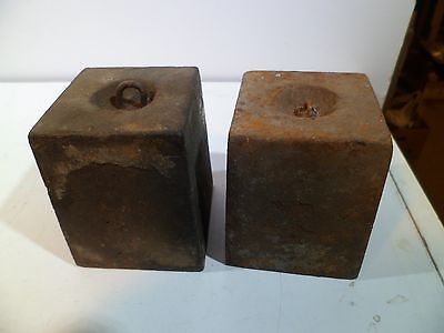 Early 8 Day Matched Cast Iron Clock Weights Jerome Boardman Terry Seth Thomas 12