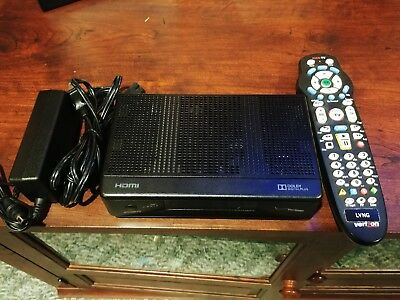 VERIZON ARRIS HDMI Receiver Cable Box IPC1100P2 w/Power Cable and Remote