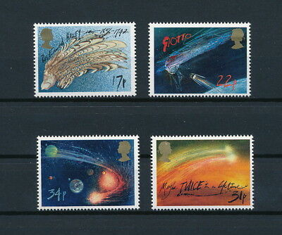 Great Britain 1133-6 MNH, Haley's Comet, 1986