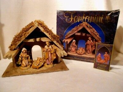 Vintage FONTANINI Roman Nativity Scene 1992 with Info Pamphlet, in Original Box