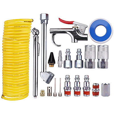 "20 PCS Air Compressor Accessory Kit,1/4"" NPT Air Tool Kit W/1/4""x25Ft Nylon Hose"