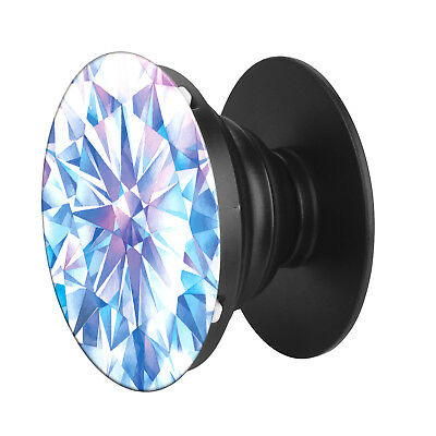 Pop Up - Blue Diamond - Socket Grip - Smart iPhone Android Expanding Stand