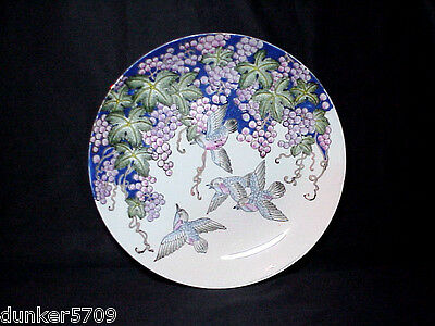 Chinese Porcelain Cpc Decorative Wall Plate Grapes With Hummingbirds Macau