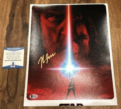 Rian Johnson Star Wars The Last Jedi  Signed 11x14 Autographed Photo BAS Beckett
