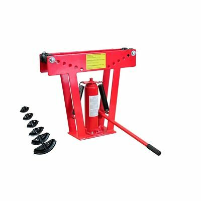 12 Ton Steel Hydraulic Tubing Red Heavy Duty Manual Pipe Bender with 6 Dies