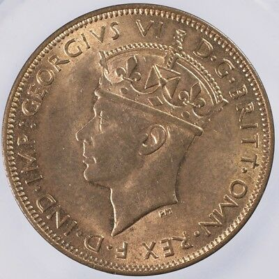 1937 Jersey 1/24 Shilling MS Choice BU Red and Brown
