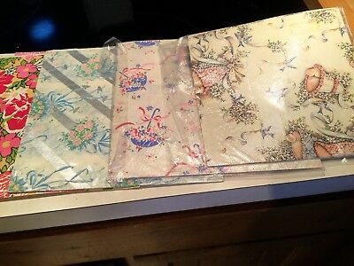 Vintage Wrapping Paper Lot All Occasion Wedding, Birthday Mod LOOK