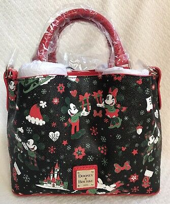 Disney Dooney & and Bourke Christmas Woodland Winter Holiday Tote Purse Bag G