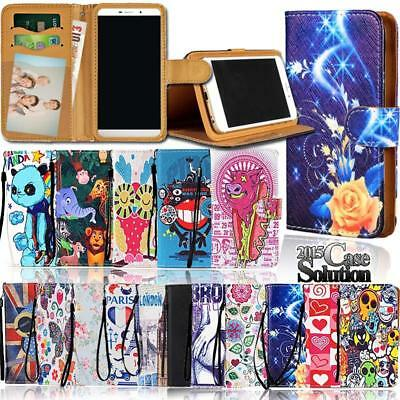 New PU Leather Wallet Card Stand Magnetic Flip Case Cover For Various Phones