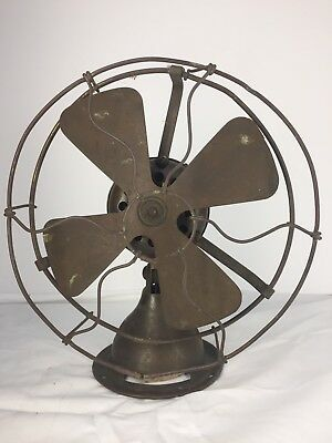 "Vintage Emerson Trojan 8"" All Brass Electric Fan"