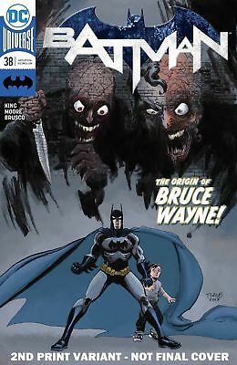 BATMAN #38 2ND Printing Variant - Origin of Bruce Wayne - 2/7/18+