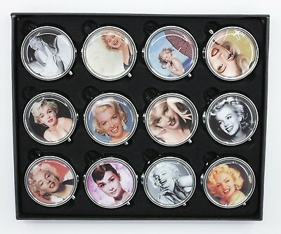 Compact Pill Box with Makeup mirror, Travel Pill Box
