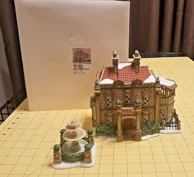 2007 Department Dept 56 Dickens Village Barrow Manor & Fountain 799909 Sample