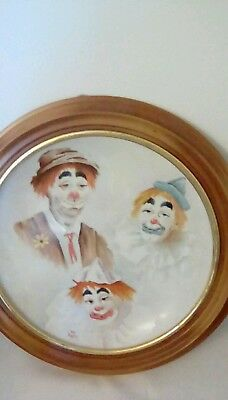 Mounted Clown Plate