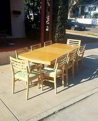 vintage dining table and chairs by Bernhardt