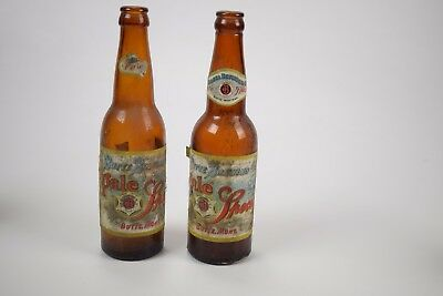 Pair of vintage beer bottles from Butte Brewing - Pale Special 1930's