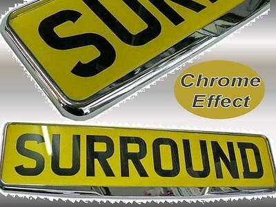 1 HD Chrome Finish Car Van Licence Number Plate Surround Frame Holder with Lip