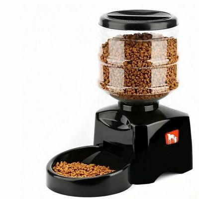 5.5L Automatic Pet Dog Cats Feeder with Voice Message Recording and LCD Screen