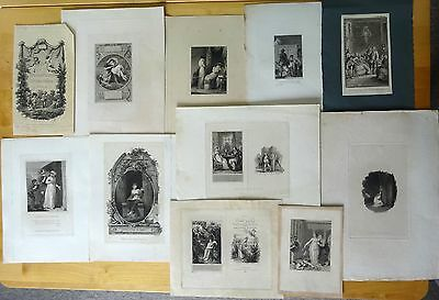 13 ANTIQUE PRINTS, Late 18th/early 19th Century. Etchings and engravings (13)