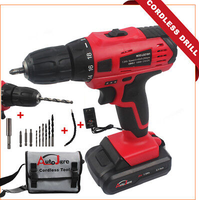 CORDLESS DRILL Kit NEW Driver drills 3/8'' 18V Kit Battery Charger powerful /