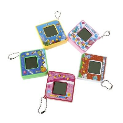 LCD Virtual Digital Pet Electronic Game Machine With Keychain Cute Square Shape