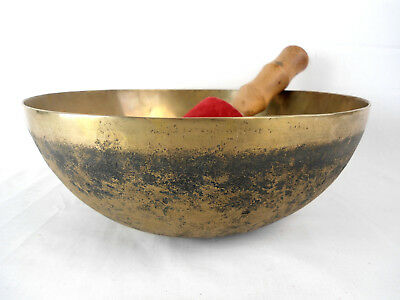 "Bol chantant tibétain ""Chaken"" 2080 gr. 28,5 cm - Népal singing Bowl"