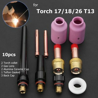 """TIG Welding Gas Lens Accessory Kit (3/32"""") for Torch 17/18/26 T14 