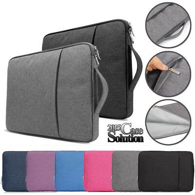 """For 10"""" 11"""" 13"""" 14"""" 15"""" Tablet Laptop Notebook Sleeve Case Carrying Hand Bag"""